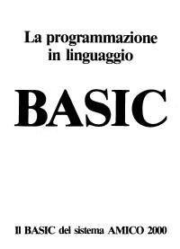 Manuale BASIC Amico 2000