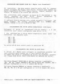 Manuale controller floppy 1 MB per Apple II