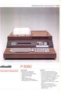 Depliant Olivetti P6060