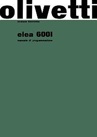Manuale di programmazione Elea 6001