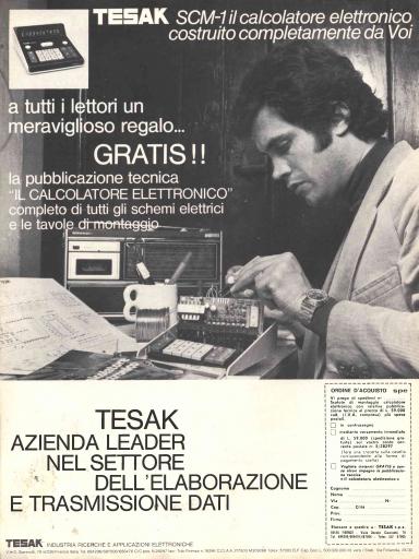 Pubblicità calcolatrice Tesak