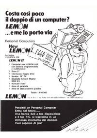 Pubblicità New lemon di Lemon Italia