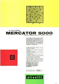 Pubblicità Olivetti Mercator 5000 del 1962