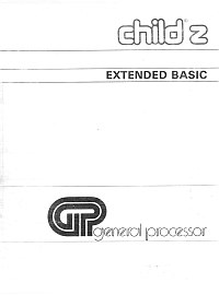 Manuale Extended BASIC del Child Z
