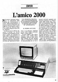 """Articolo """"L'Amico 2000"""" di Elettronica 2000"""