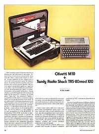 Prova Olivetti M10 su MCmicrocomputer