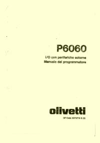 P6060 - Manuale I/O