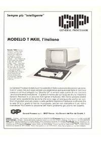 Pubblicità GP Modello T MKIII