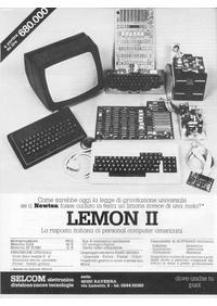Pubblicità Lemon II della Selcom