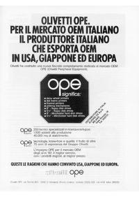 Pubblicità Olivetti OPE