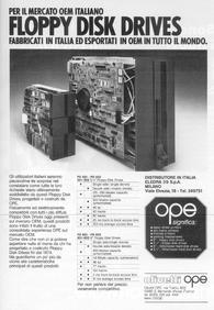Pubblicità floppy disk OPE