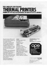 Pubblicità stampanti OPE