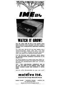Pubblicità IME 84 - UK